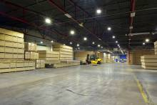 apto interior led lighting warehouse production facility slovakia